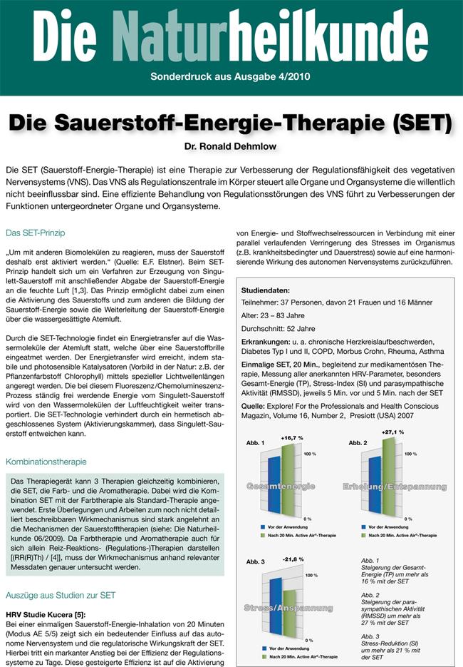 Sauerstoff-Energie-Therapie gegen COPD: Artikel aus Die Naturheilkunde